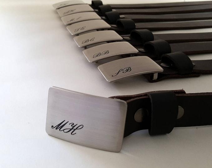 Men's Monogrammed Buckles & Belts ~ Personalized Belts and Buckles ~ Wedding Keepsake ~ Groom and Groomsmen Gift ~ Boyfriend Gift ~ Best Man