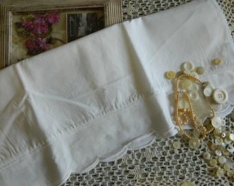 Sweet White with Scalloped edge Pillowcase #106