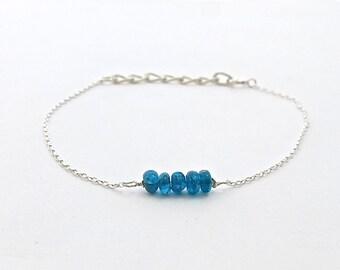 Classic Jewelry, Stone Bracelet, Blue Bracelet, Bridesmaid Gift, Womens Bracelet, Statement Bracelet, Handmade Gifts, Jewelry Gift, Bracelet