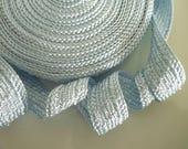 Art silk Moroccan trim, pale blue , textured trim, spring colour, pastel, 5metres
