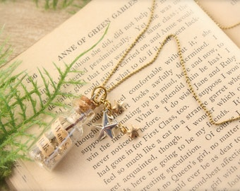 Anne Inspired Bottle Necklace
