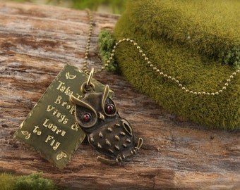 Owl Beatles Inspired Necklace