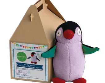 Cate and Levi Penguin Stuffed Animal Making Kit