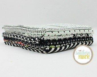 "Handmade - Black - Fat Quarter  Bundle - 7 - 18""x21"" Cuts - Bonnie and Camille - Moda Quilt Fabric"
