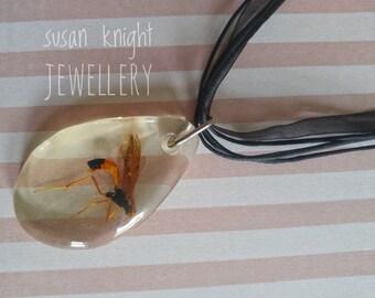 Crane Fly Drop necklace