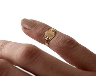 Antique 14k Gold Victorian Baby Ring c.1900