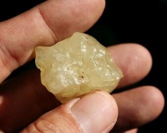 Libyan Gold Tektite Yellow Desert Glass from Egypt King Tut Stone Specimen