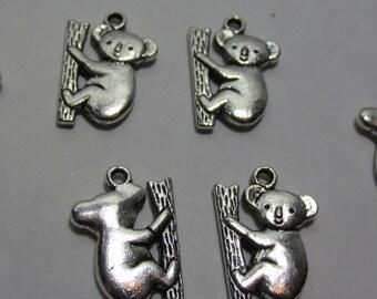 11 Koala Bear Charm, Koala Charm, Bear Charm, Shower Favors, Jewelry Charms, Wine Charms, Silver Koala Charms, Leather Bracelets, Keychains
