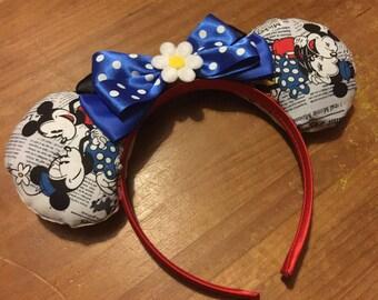 Minnie Mouse inspired Mickey/Minnie Disney ears