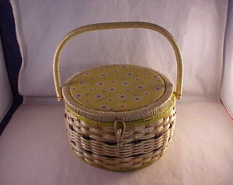 Wicker Sewing Basket Made Exclusively For Singer With Sewing Notions
