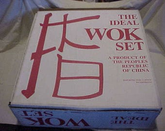 The Ideal Wok Set New In Box Never Used With All Cooking Tools