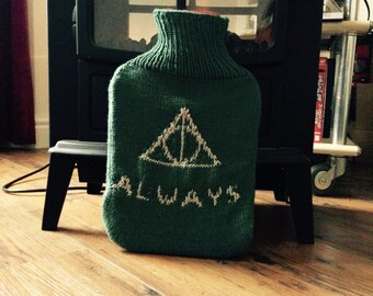 Slytherin Deathly Hallows Hot Water Bottle - Harry Potter
