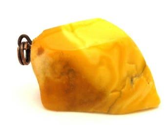 Amber Baltic Pendant Antique Genuine 4.01 Gr Natural Egg Yolk Color (QA519)