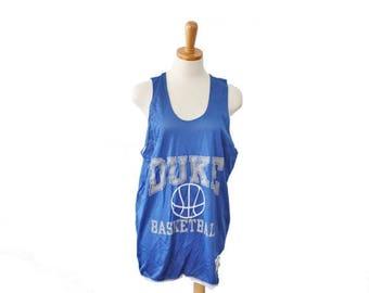 50% off sale // Vintage 80s Duke Basketball Jersey // Champion // Men M, made in America