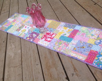 Easter HodgePodge 14x52quilted patchwork table runner