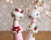 Valentine's Day Cats - Valentine's Day Cake Topper by Bonjour Poupette