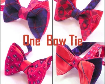 Custom 4 - Sided Reversible Butterfly Bow Ties