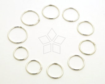 SV-162-SS / 1 Pcs - Plain Silver Ring, Single or Stacking Ring, Knuckle Ring, Five Finger Rings, 925 Sterling Silver / 1.5mm