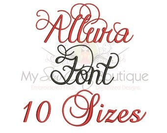 Monogram Embroidery Fonts - Fancy BX Machine Designs with PES - 10 Sizes - Instant Download