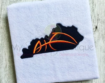 Machine Embroidery Applique Designs - Basketball Kentucky State Design - 6 Sizes - Instant Download