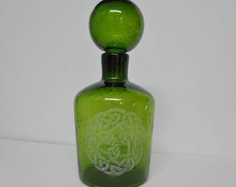 Engraved Celtic Decanter