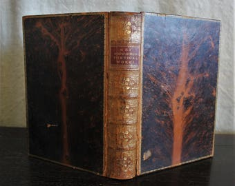 The Poetical Works of Elizabeth Barrett Browning Antique Leather Bound Book 1870