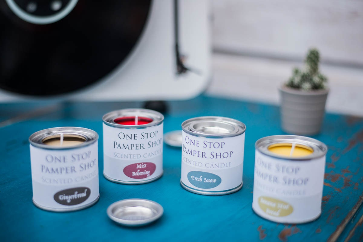 Scented candle paint tin home decor gift ideas travel - Home interiors and gifts candles ...