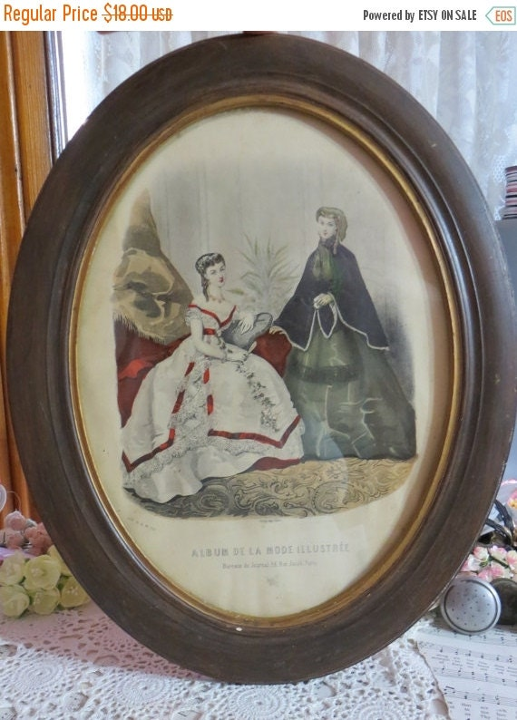 ON SALE Framed Paris De La Mode Illustratee-1880's