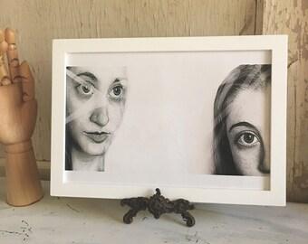 2 Girls - framed fine art print