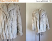 25% off SALE vintage fox fur coat - SAGA FOX blue fox fur winter coat / M