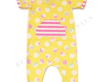 Girl Romper in Happy Polka