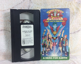 1990 Captain Planet and the Planeteers VHS Video A Hero for Earth