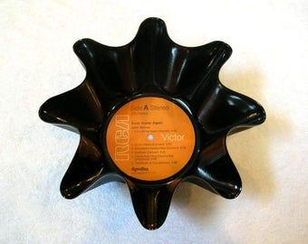 John Denver Record Bowl Made From Vinyl Album