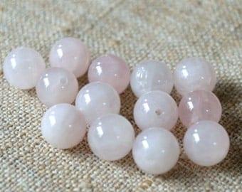 40pcs 10mm Rose Quartz Beads 16 Inches Natural Gemstone