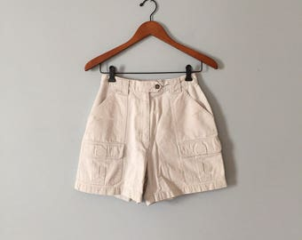 40% OFF SALE... Lord&Taylor nude mini shorts | pocket hiking short | high waisted shorts