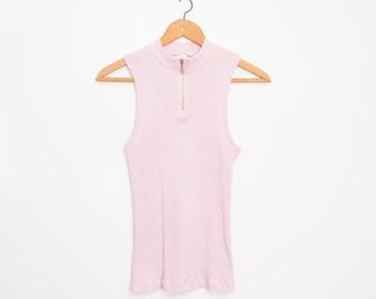 NOS vintage 90s ribbed pink top