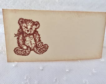 Teddy Bear Placecards Place Cards Food Buffet Candy Bar Signs Set of 10