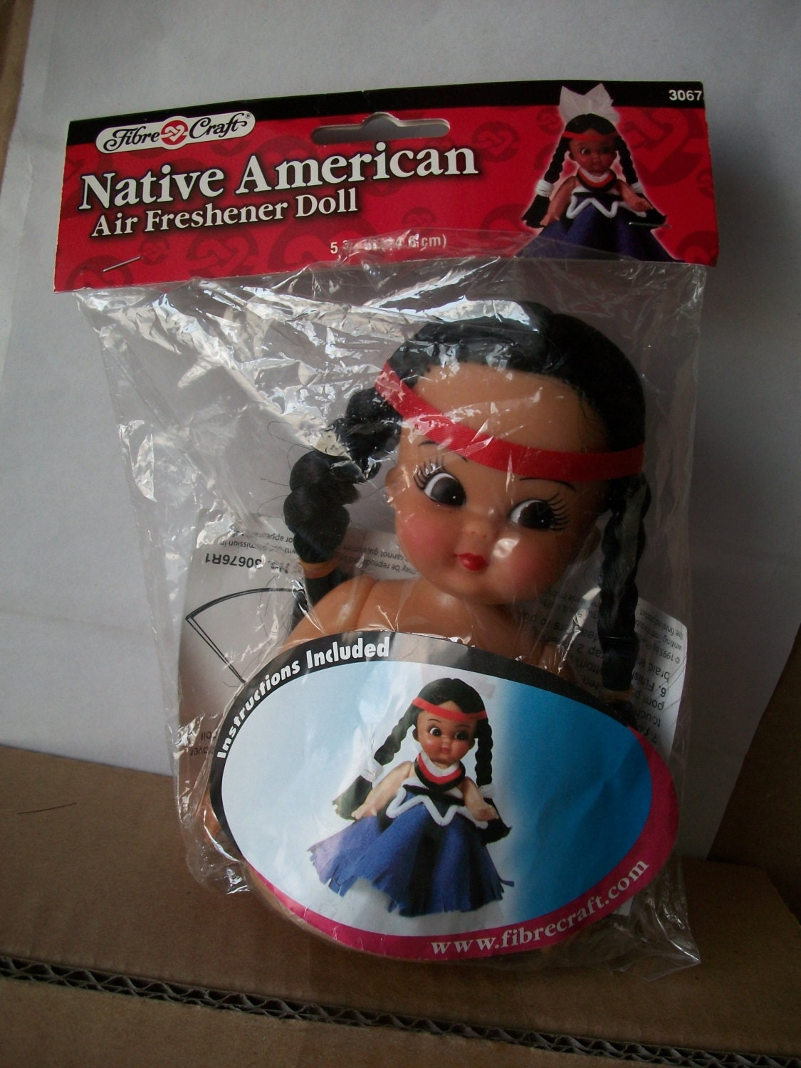 Native American Packaged Fibre Craft Air Freshener Doll Kit