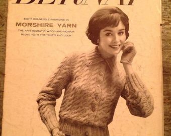 Vintage 1957 Bernat Handicrafter Knitting Pattern Book 180