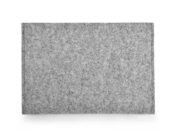 iPad case, iPad 9.7 cover, iPad New case, iPad 2017 case - Landscape Design 100% pure wool, undyed, natural Grey