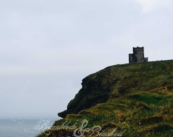Ireland-Cliffs of Moher-Castle at the Edge of the World- Fine Art Photography