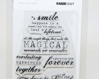 KaiserCraft Sentiments Collection Clear Stamps -- Acrylic -- Together