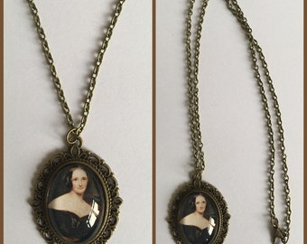 Mary Shelley Inspired Cameo Necklace