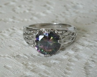Mystic Topaz Ring, boho jewelry bohemian jewelry gypsy jewelry mystic jewelry hippie new age hipster metaphysical sterling silver ring