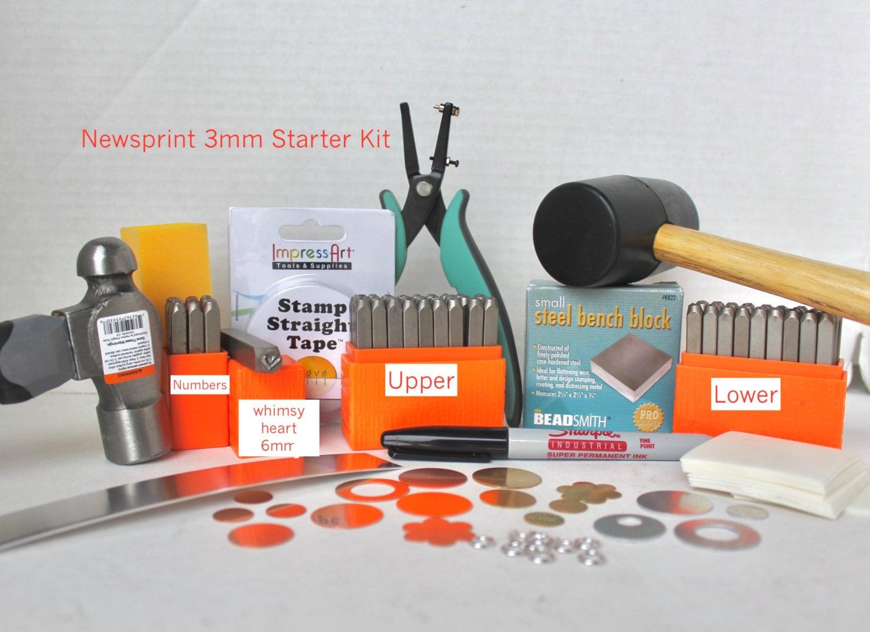 Metal Stamping Kit Beginners Stamping Kit Newsprint Impressart