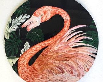 Flamingo Trivet, bird lover gift, bird watcher gift, nature lovers gift, trivet, centerpiece, flamingo lover
