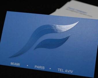 500 Business Cards - 16 PT Velvet laminated with spot UV gloss - full color custom printed