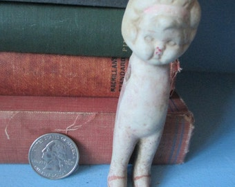 DISTRESSED DOLL JAPAN Creepy Armless Antique Excavated Vintage Found Object Curiosity for Collecting or Altered Art Projects