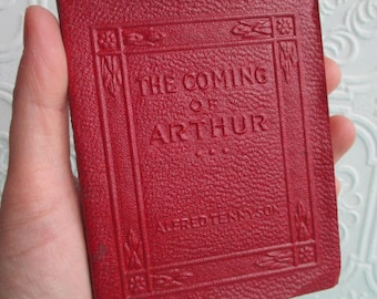 The COMING OF ARTHUR by Alfred Tennyson - Miniature Book Little Leather Library 1920s Antique Vintage