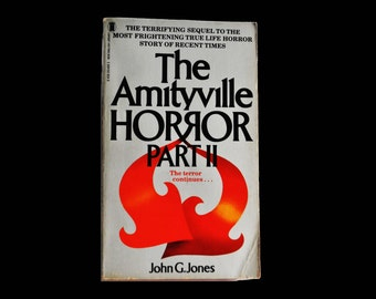Vintage Paperback. 1982. The Amityville Horror Part II, by John G. Jones. Sequel. NEL Book.